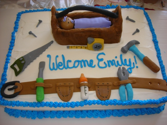 """Here's the cake my sister-in-law made for Ramon's """"Man Shower."""""""