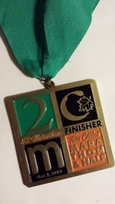 Here's a close-up of my awesome medal.