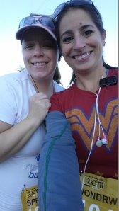 This is Karen and me before we started our leg of the race.