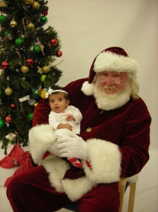 Emily at 2-months-old with Santa