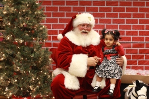 Emily at 2-years-old with Santa