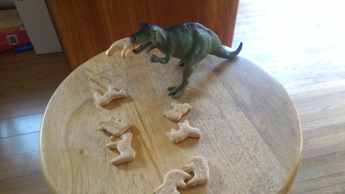 T-Rex is at the top of the animal cracker food chain!