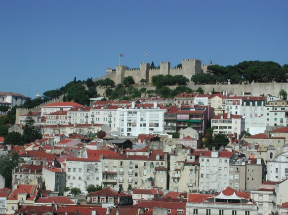 Sao Jorge castle in the distance
