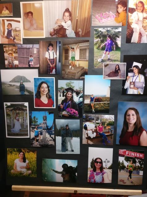 birthday photo board